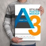 Realistic Poster Mockup - Download FREE PSD File
