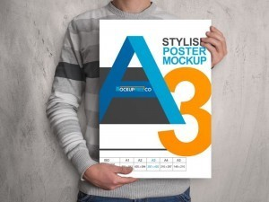 Realistic Poster Mockup – Download FREE PSD File