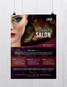 Beauty Salon – Free PSD Flyer Template