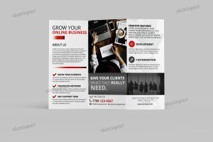 Creative Business Tri-Fold Brochure – FREE PSD Template