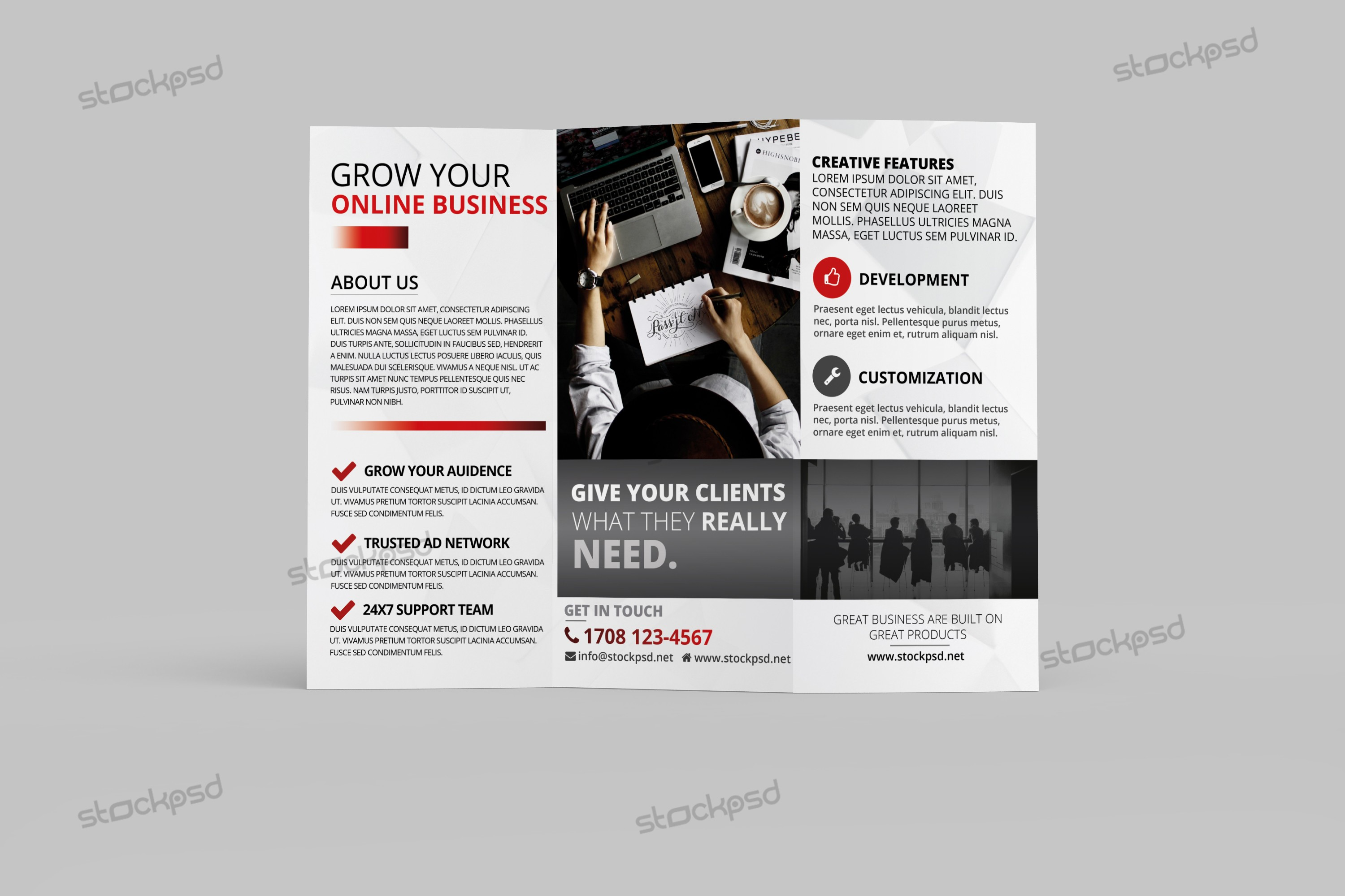 corporate brochure design psd free download - brochure design download free psd brochures