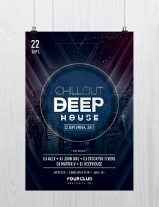 Chillout Deep House – Free PSD Flyer Template