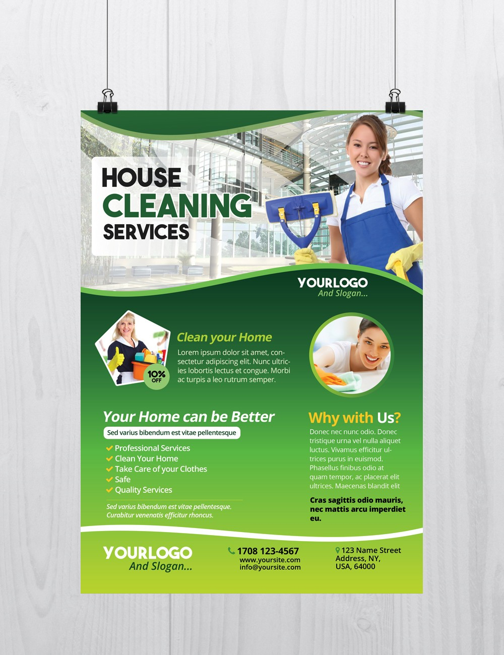 cleaning services psd flyer template net cleaning services