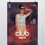 Club Beat Flyer - Download Free PSD Flyers Templates