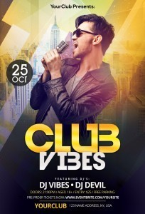 Club Vibes – Download Free PSD Photoshop Flyer Template