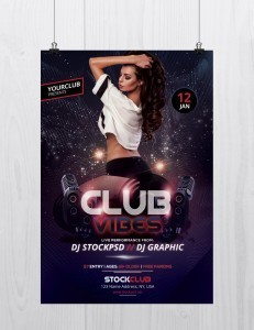 Club Vibes Party – Free PSD Flyer Template
