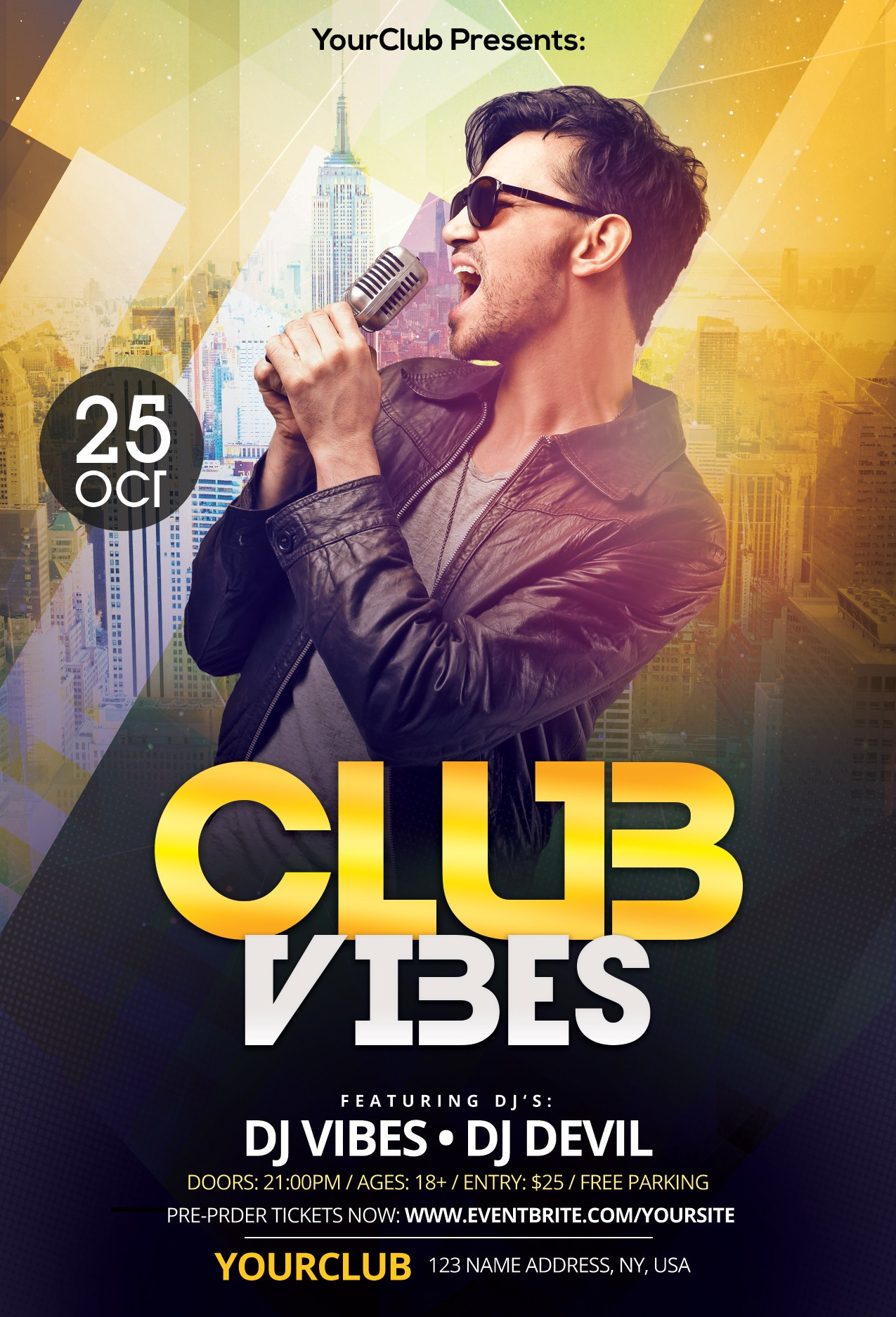club vibes is free psd photoshop flyer template to download this free psd flyer is fully editable and very easy to edit and customize - Free Psd Flyer Templates