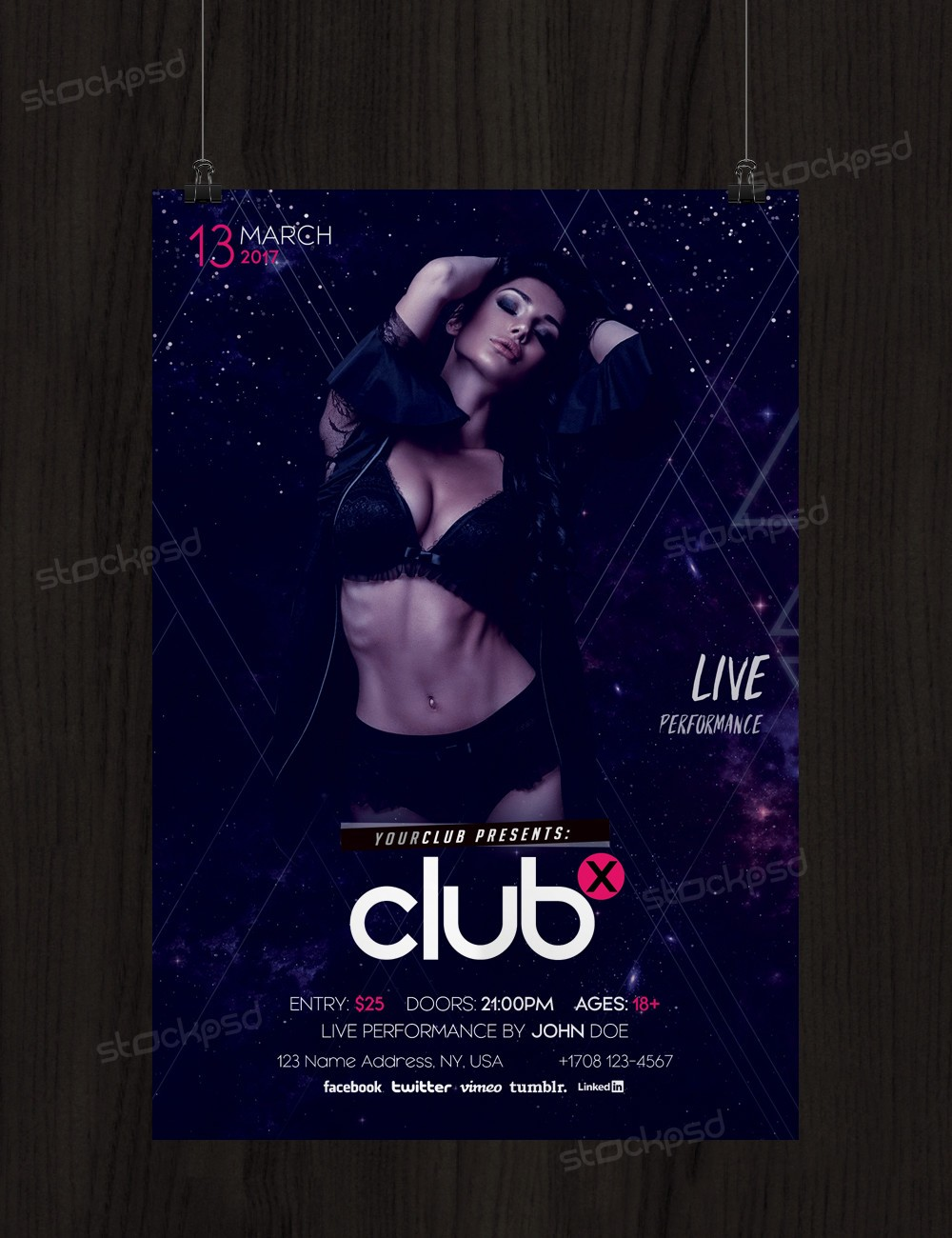 Club X - Download Free PSD Flyer Template - Stockpsd.net