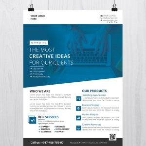 Creative Business - Download Free PSD Flyer Template