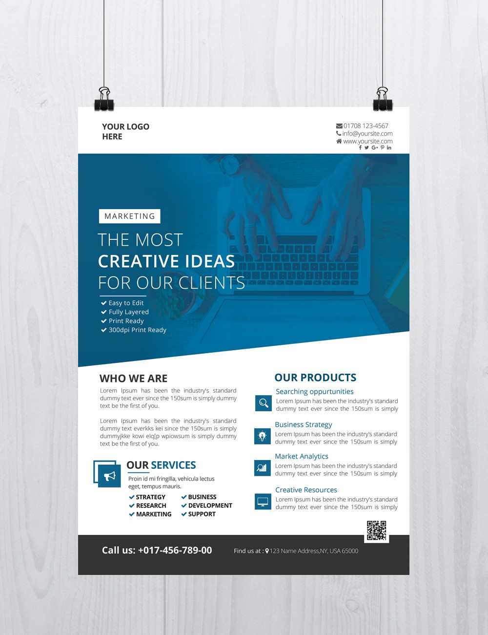 Free psd flyers brochures and more for Free handout templates
