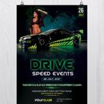 Drive: Speed Car Event - Free PSD Flyer Template