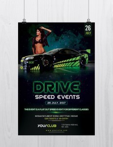 Drive: Speed Car Event – Free PSD Flyer Template