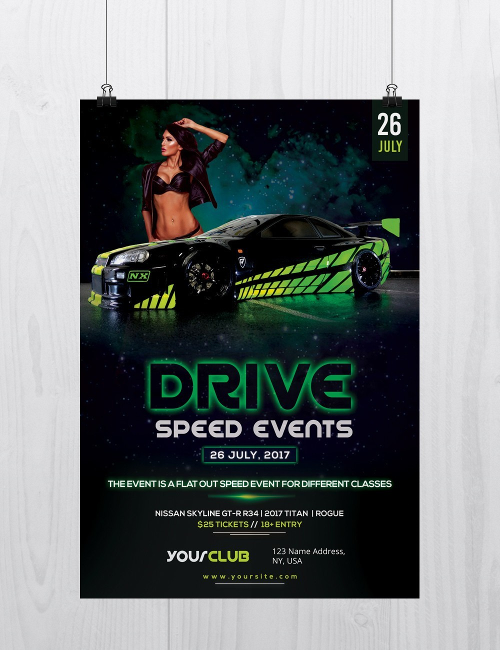 Drive Speed Car Event Free Psd Flyer Template Stockpsd