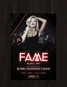 Fame – Download Free PSD Photoshop Flyer Template