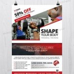 Fitness and Gym – Freebie PSD Flyer Template