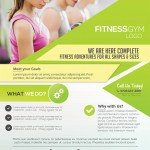 Fitness Services – Download Free PSD Flyer Template