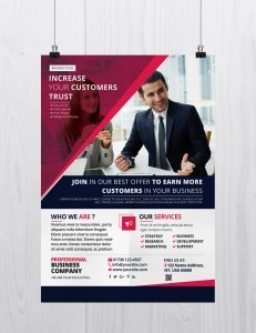 Marketing Business – Download Free PSD Flyer Template