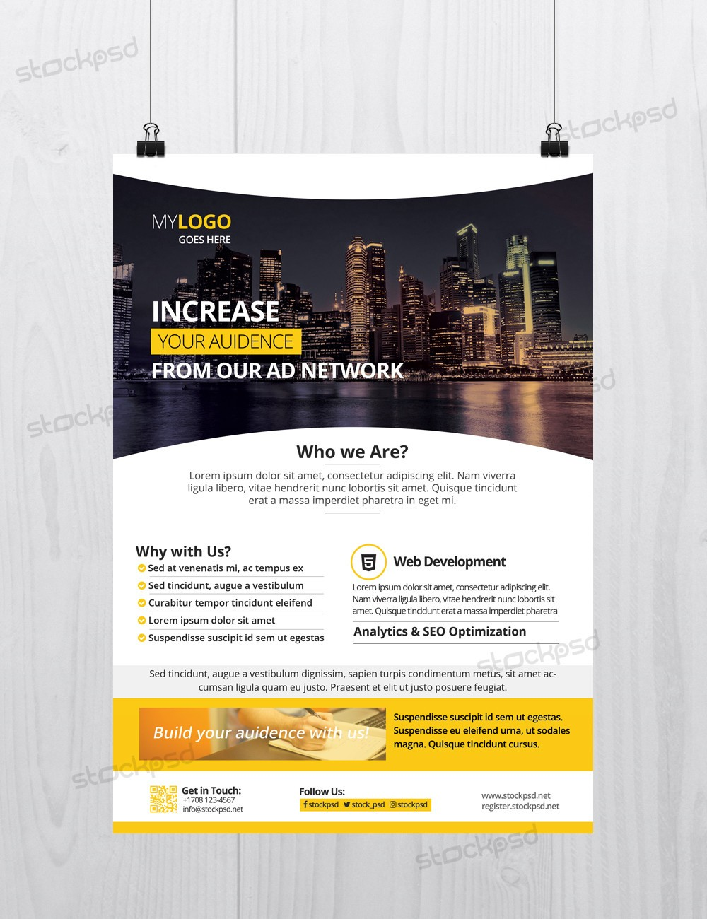 corporate download free photoshop flyer template stockpsd