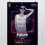 Future Dance - Free PSD Flyer Template