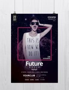 Future Dance – Free PSD Flyer Template