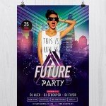 Future Party - Free Photoshop Flyer Template