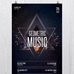 Geometric Music – Free PSD Flyer Template