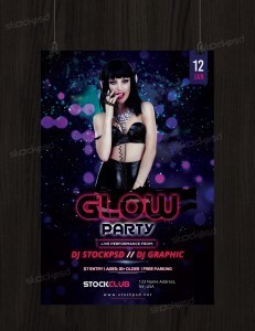 Glow Party – Free PSD Flyer Template