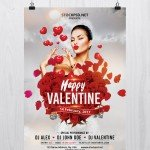 Happy Valentine Day – Free PSD Flyer Template