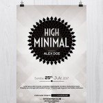 High Minimal - Download Free PSD Flyer Template