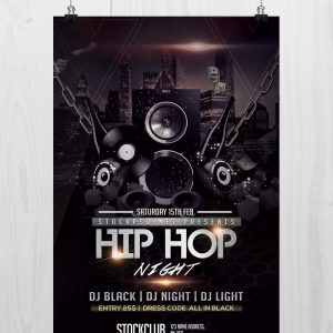 Hip Hop Music - Download Free PSD Flyer Template