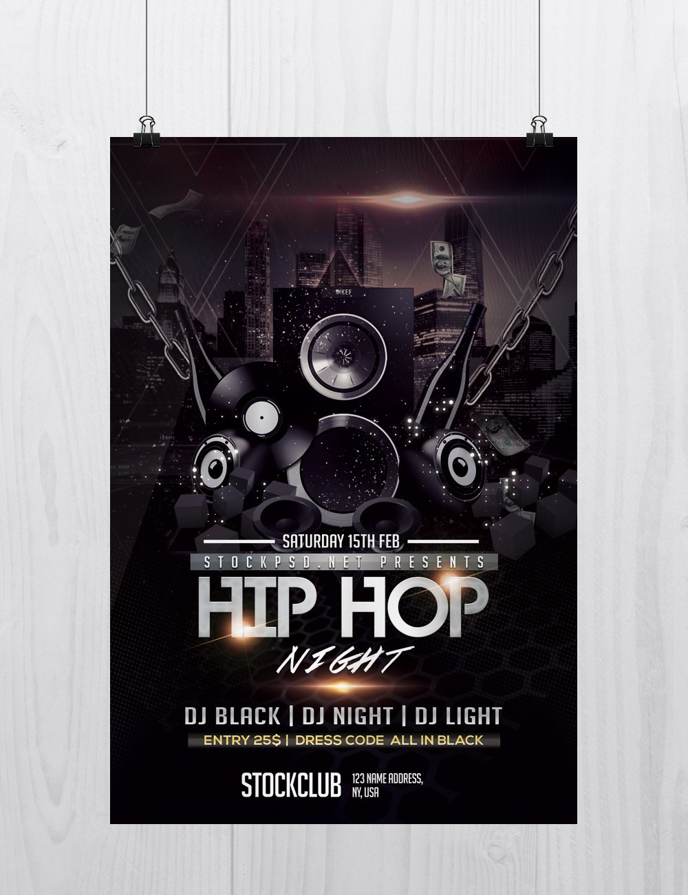 Hip Hop Music - Download Free PSD Flyer Template - Free PSD