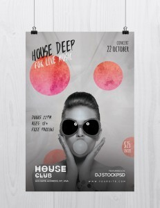 House Deep Live – Free PSD Flyer Template