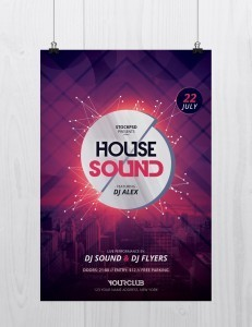 House Sound – Free PSD Flyer Template