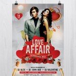 Love Affair – Free Valentine's PSD Flyer Template