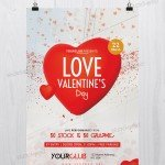 Love Valentine's Day - Free PSD Flyer Template