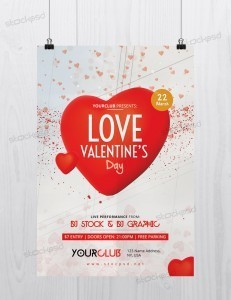 Love Valentine's Day – Free PSD Flyer Template