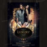 Luxury Night – Free PSD Flyer Template