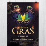 Mardi Gras - Download Free PSD Flyer Template