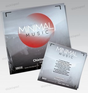 Minimal Music – Mixtape Cover Artwork PSD Template