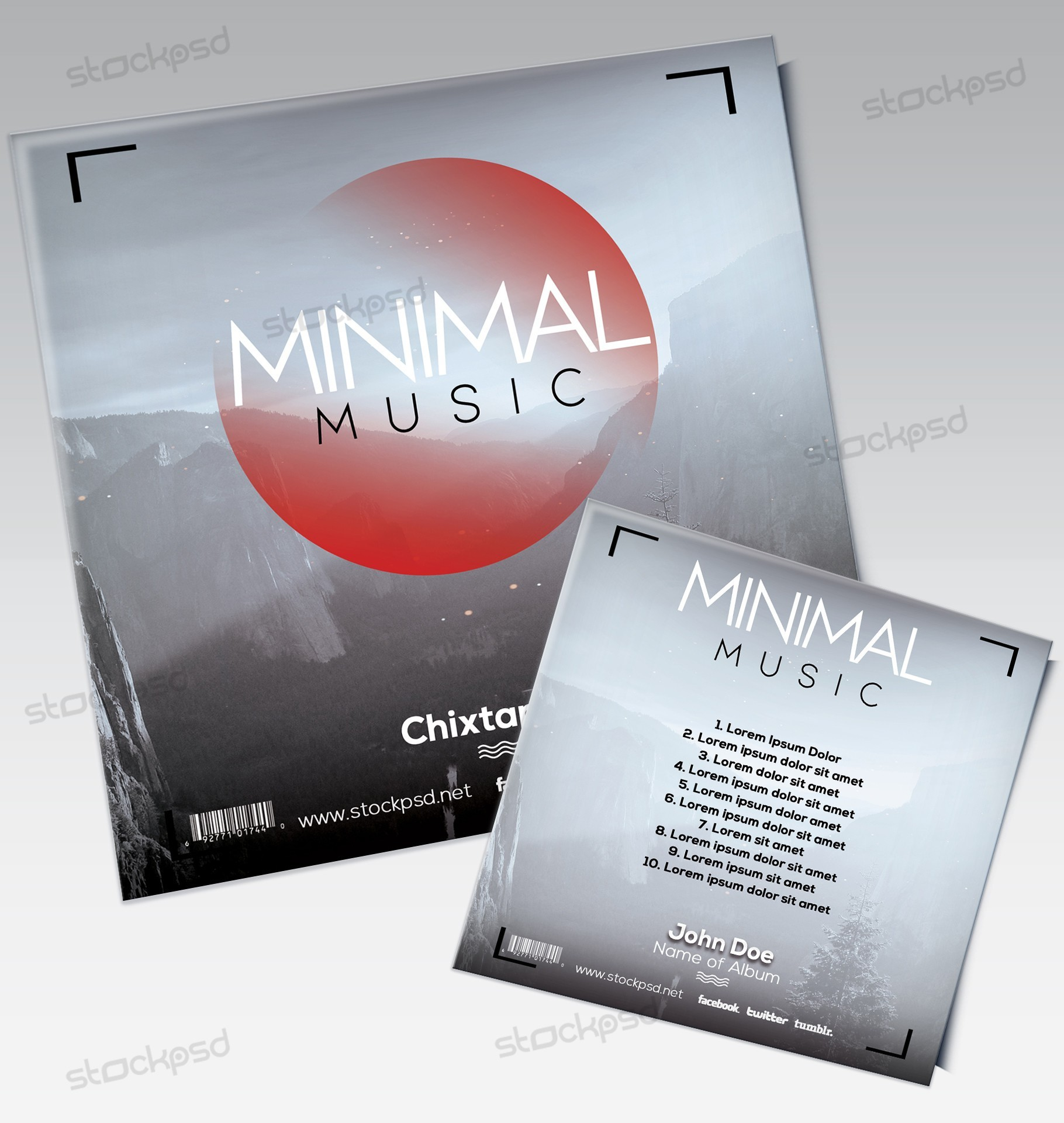 Minimal Music - Mixtape Cover Artwork PSD Template - Free PSD Flyer