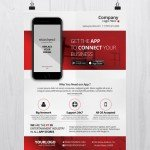 Mobile App Business - Free PSD Flyer Template