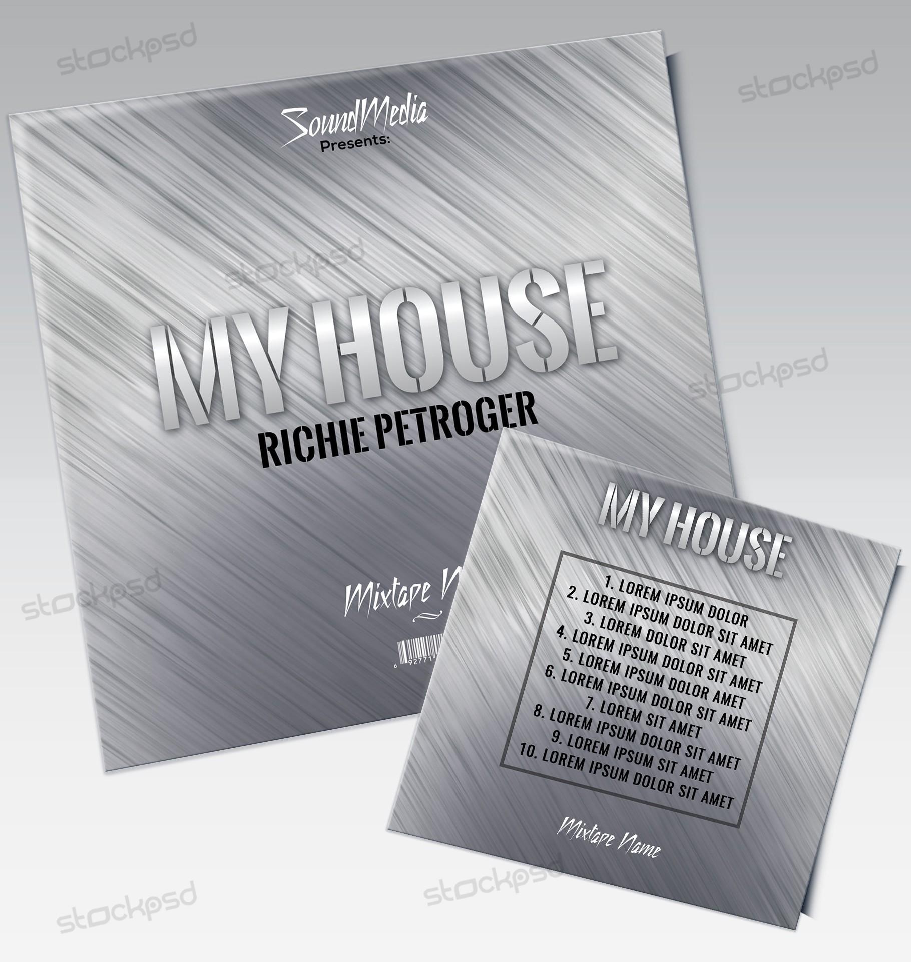 My House - Free PSD Mixtape Cover Artwork - Free PSD Flyer