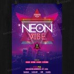 Neon Vibe - Download Free PSD Flyer Template
