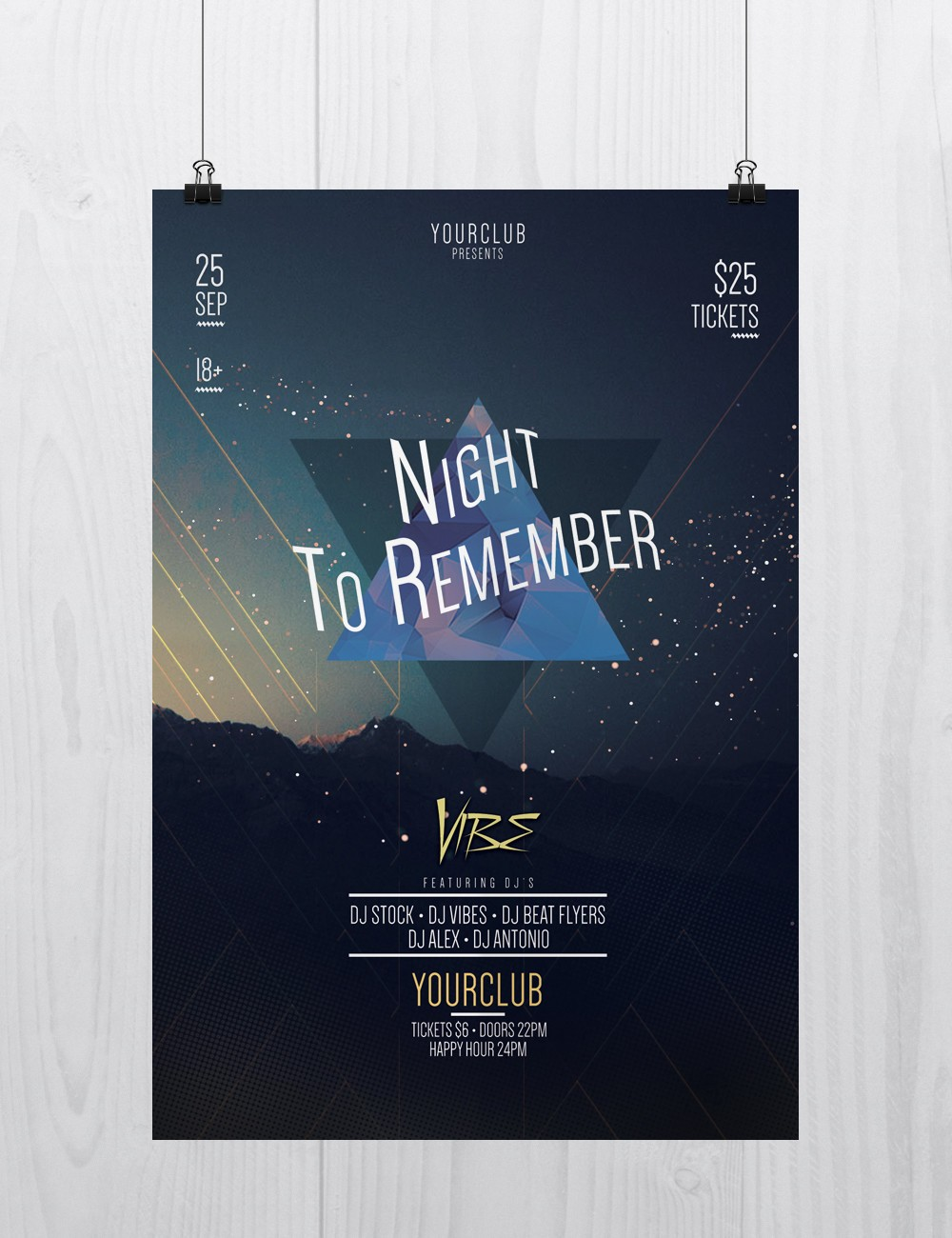 Night to Remember – Free PSD Flyer Template
