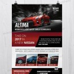 Nissan Altima Car - Free PSD Flyer Template