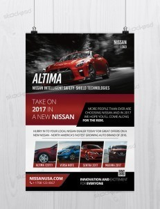 Nissan Altima Car – Free PSD Flyer Template