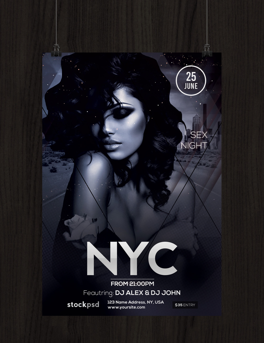 nyc download free psd flyer template stockpsd