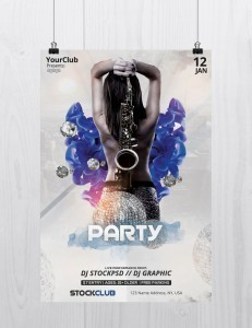Party – Download Free PSD Flyer Template