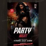 Party Night – Download PSD Free Flyer Template
