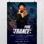 Pure Trance – Download Free Photoshop Flyer Template